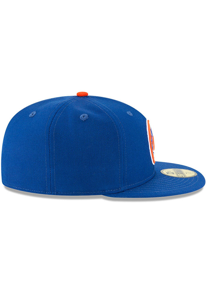 New Era New York Mets Mens Blue Cooperstown 59FIFTY Fitted Hat - Image 4