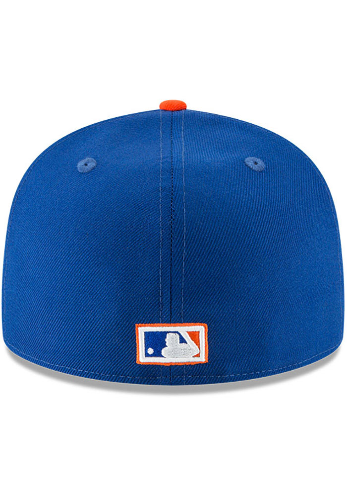 New Era New York Mets Mens Blue Cooperstown 59FIFTY Fitted Hat - Image 5
