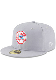 New York Yankees New Era Cooperstown 59FIFTY Fitted Hat - Grey