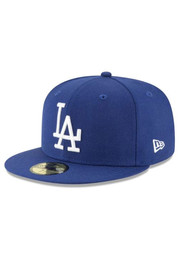 New Era Los Angeles Dodgers Mens Blue Cooperstown 59FIFTY Fitted Hat
