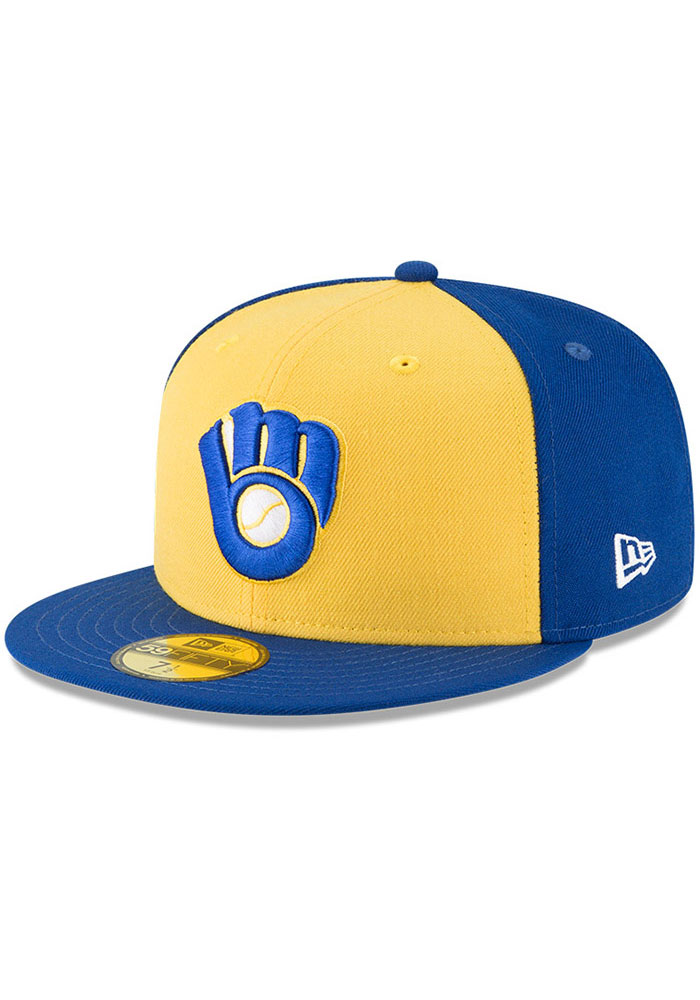 Milwaukee Brewers New Era Cooperstown 59FIFTY Fitted Hat - Blue