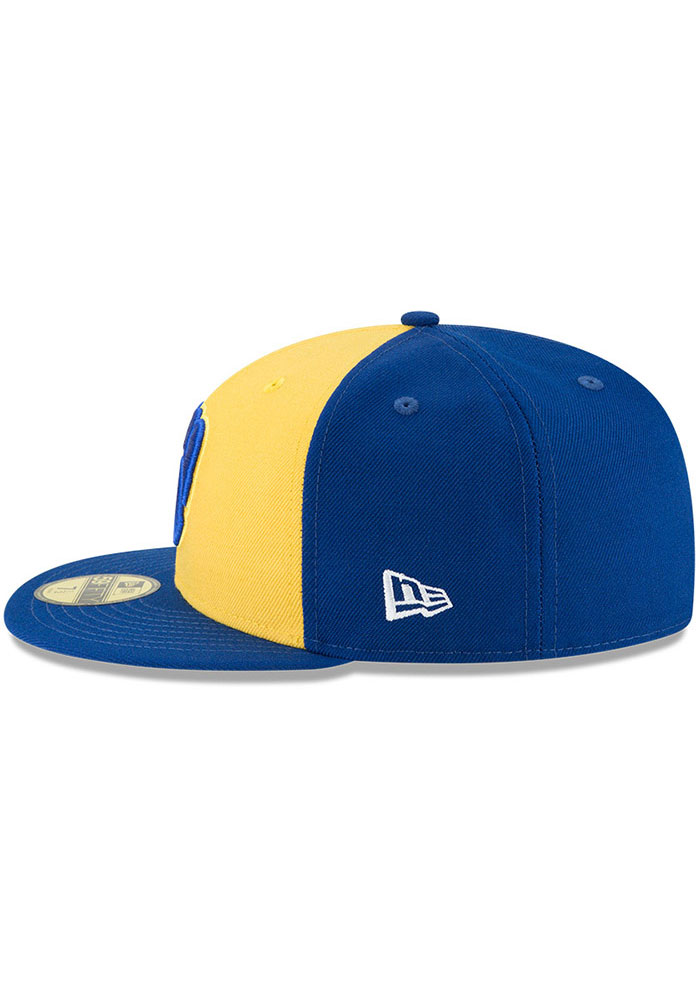 New Era Milwaukee Brewers Mens Blue Cooperstown 59FIFTY Fitted Hat - Image 4