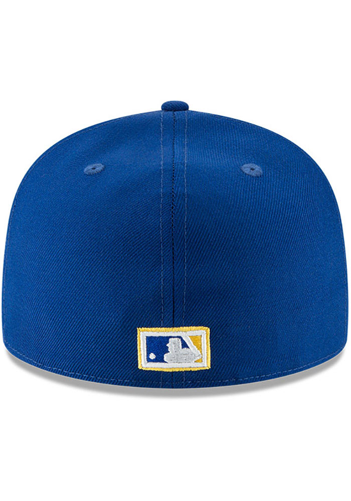 New Era Milwaukee Brewers Mens Blue Cooperstown 59FIFTY Fitted Hat - Image 5