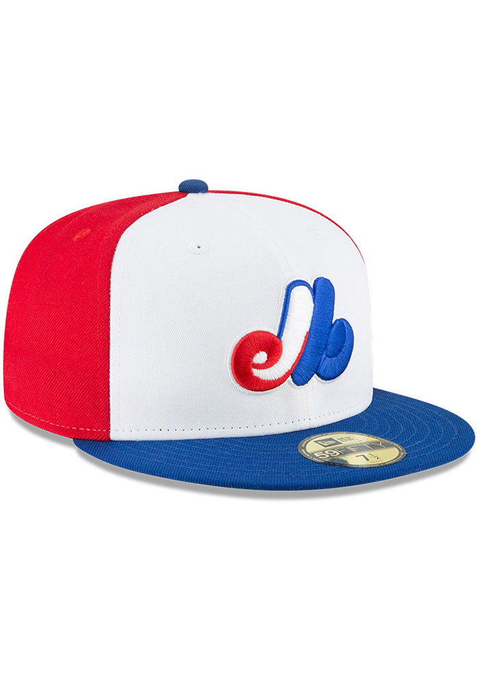 New Era Washington Nationals Mens White Montreal Expos Cooperstown 59FIFTY Fitted Hat - Image 2