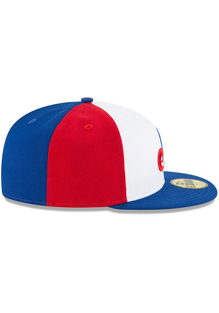 New Era Washington Nationals Mens White Montreal Expos Cooperstown 59FIFTY Fitted Hat - Image 6