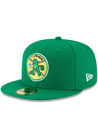 Oakland Athletics New Era Cooperstown 59FIFTY Fitted Hat - Green
