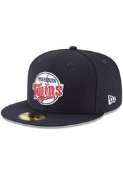 Minnesota Twins New Era Cooperstown 59FIFTY Fitted Hat - Navy Blue