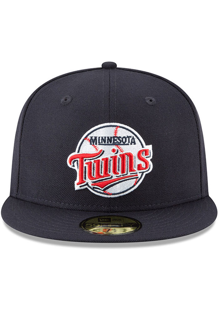 New Era Minnesota Twins Mens Navy Blue Cooperstown 59FIFTY Fitted Hat - Image 3