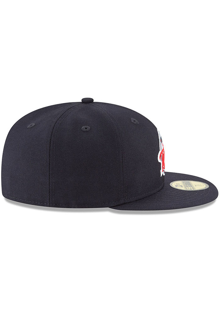 New Era Minnesota Twins Mens Navy Blue Cooperstown 59FIFTY Fitted Hat - Image 6