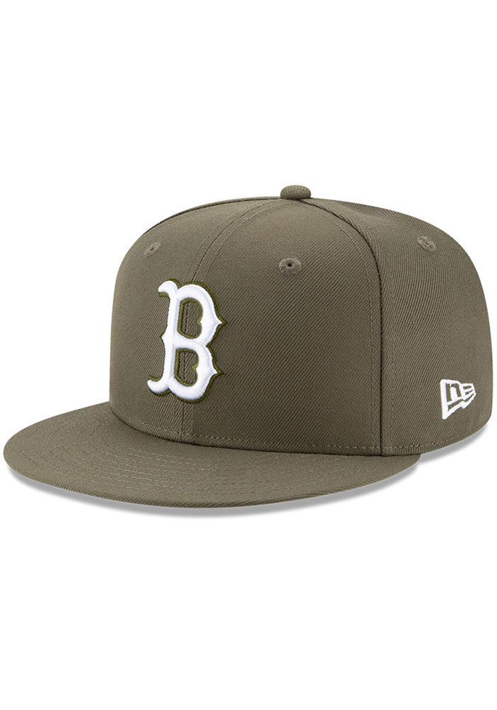 New Era Boston Red Sox Olive Fashion 9FIFTY Mens Snapback Hat - Image 1