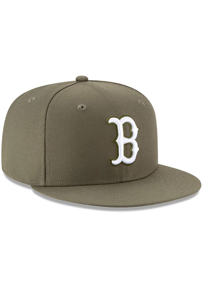 New Era Boston Red Sox Olive Fashion 9FIFTY Mens Snapback Hat - Image 2