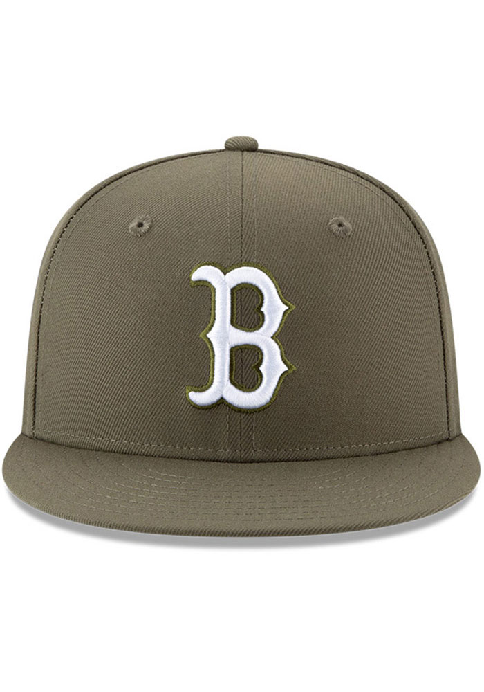 New Era Boston Red Sox Olive Fashion 9FIFTY Mens Snapback Hat - Image 3