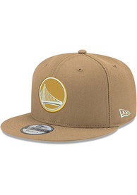 Golden State Warriors New Era Fashion 9FIFTY Snapback - Tan