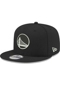 Golden State Warriors New Era and White 9FIFTY Snapback - Black