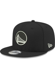 New Era Golden State Warriors Black and White 9FIFTY Mens Snapback Hat