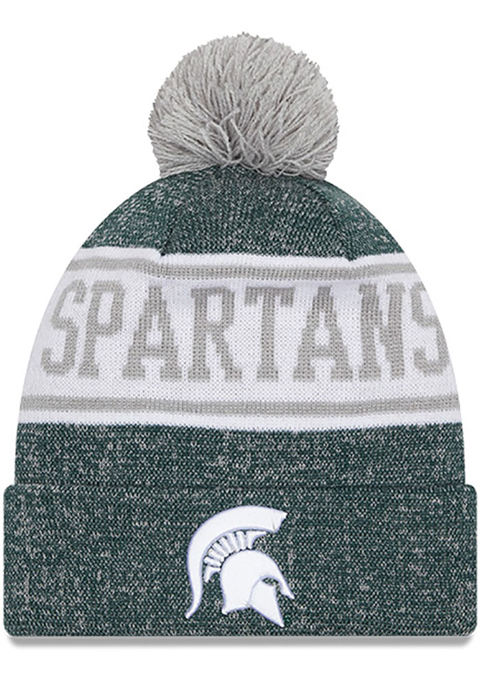 Michigan State Spartans Youth New Era JR Banner Knit Hat - Green