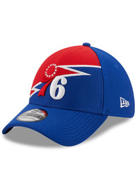Philadelphia 76ers Youth New Era JR Bolt 39THIRTY Flex Hat - Blue