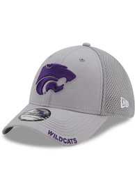 K-State Wildcats Youth New Era JR Classic Neo 39THIRTY Flex Hat - Grey