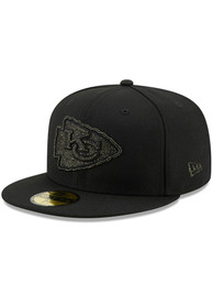 Kansas City Chiefs New Era Logo Spark 59FIFTY Fitted Hat - Black