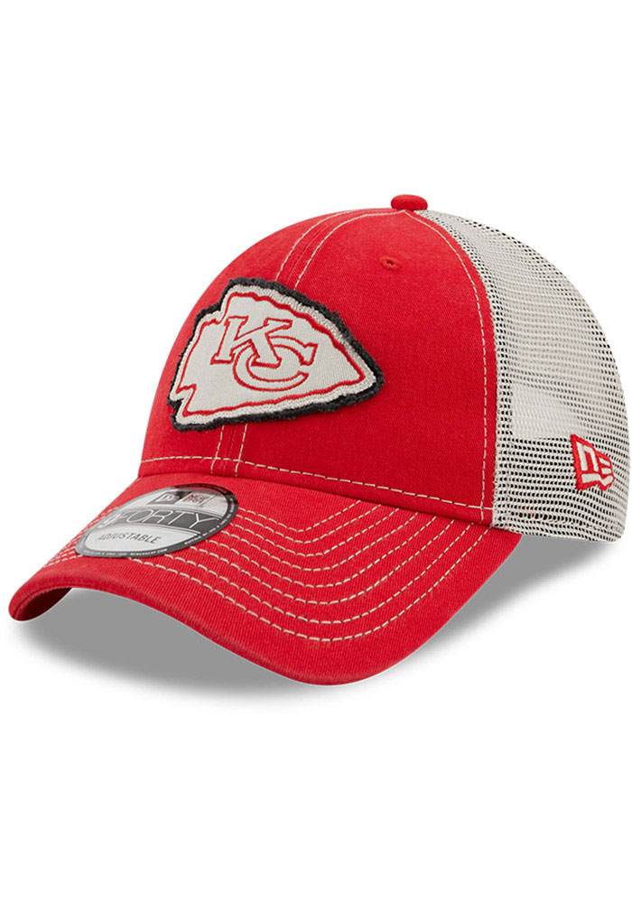 New Era Kansas City Chiefs Red JR Rugged 9FORTY Youth Adjustable Hat - Image 1