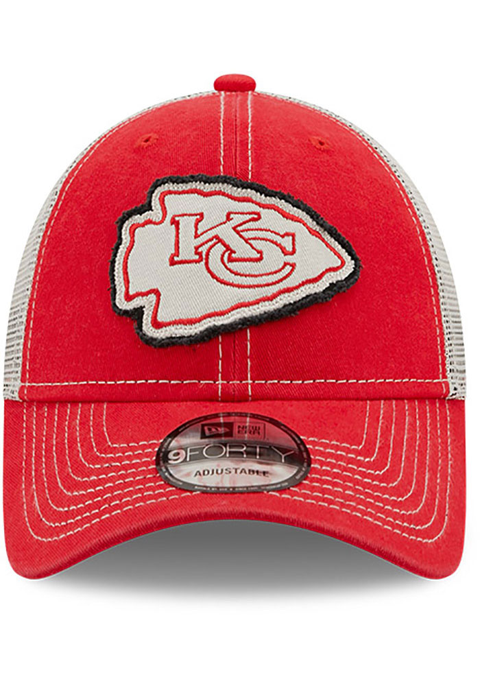 New Era Kansas City Chiefs Red JR Rugged 9FORTY Youth Adjustable Hat - Image 3