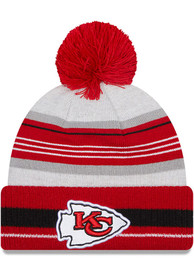 Kansas City Chiefs Youth New Era JR Grayed Knit Hat - Red