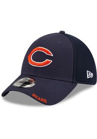 Chicago Bears New Era Classic Neo 39THIRTY Flex Hat - Navy Blue