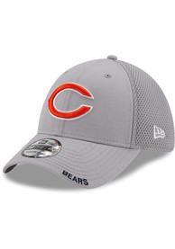 Chicago Bears New Era Classic Neo 39THIRTY Flex Hat - Grey