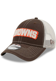 Cleveland Browns New Era Rugged 9FORTY Adjustable Hat - Brown