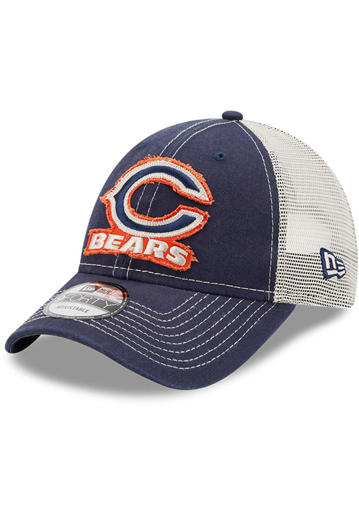 Chicago Bears New Era Rugged 9FORTY Adjustable Hat - Navy Blue
