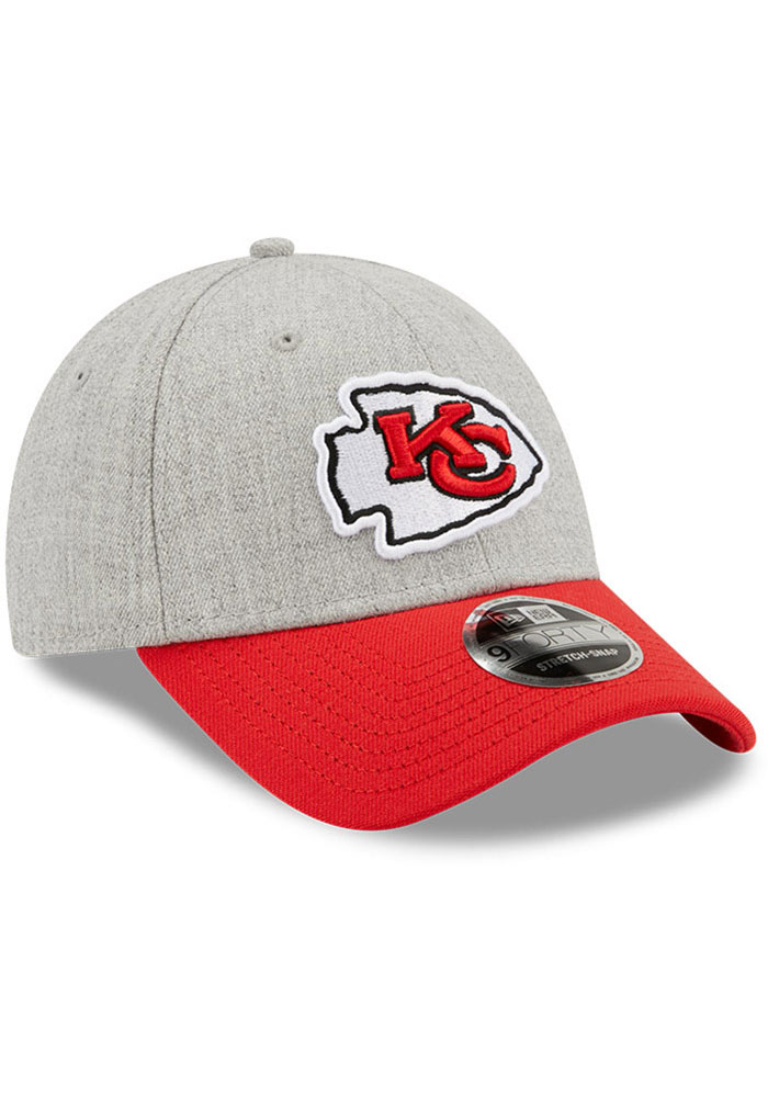New Era Kansas City Chiefs Grey JR The League Heather 9FORTY Youth Adjustable Hat - Image 2