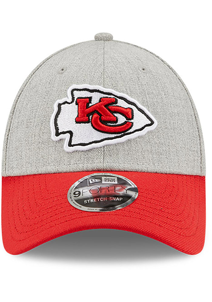 New Era Kansas City Chiefs Grey JR The League Heather 9FORTY Youth Adjustable Hat - Image 3