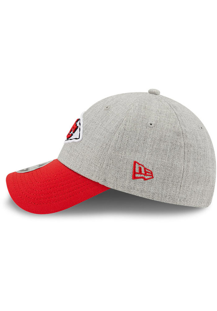 New Era Kansas City Chiefs Grey JR The League Heather 9FORTY Youth Adjustable Hat - Image 4