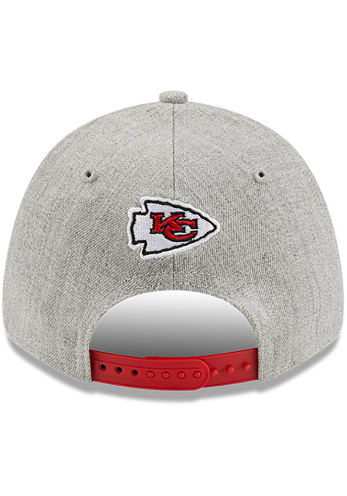 New Era Kansas City Chiefs Grey JR The League Heather 9FORTY Youth Adjustable Hat - Image 5