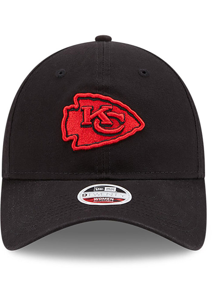New Era Kansas City Chiefs Black W Core Classic BLK 9TWENTY Womens Adjustable Hat - Image 3