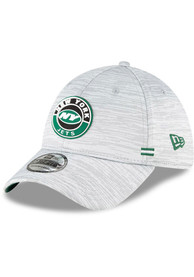 New York Jets New Era NFL20 OF Sideline 39THIRTY Flex Hat - Grey