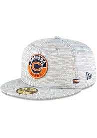 Chicago Bears New Era NFL20 OF Sideline 59FIFTY Fitted Hat - Grey