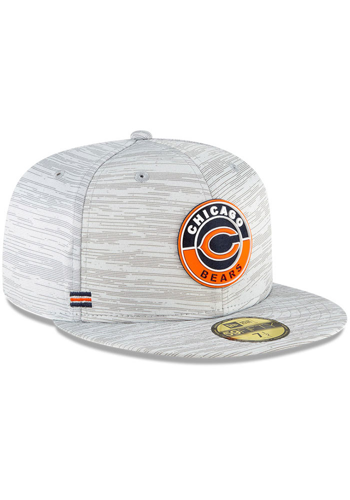 New Era Chicago Bears Mens Grey NFL20 OF Sideline 59FIFTY Fitted Hat - Image 2