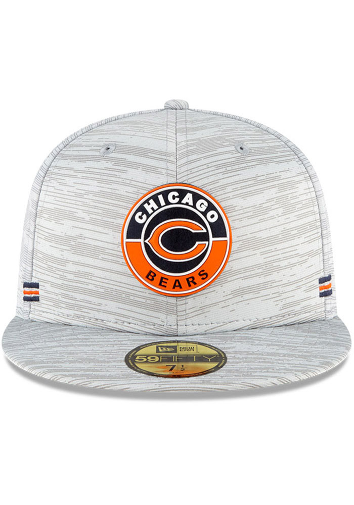 New Era Chicago Bears Mens Grey NFL20 OF Sideline 59FIFTY Fitted Hat - Image 3