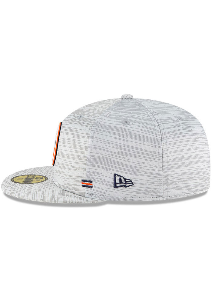 New Era Chicago Bears Mens Grey NFL20 OF Sideline 59FIFTY Fitted Hat - Image 4