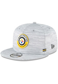Pittsburgh Steelers New Era NFL20 OF Sideline 9FIFTY Snapback - Grey