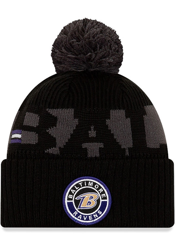 Baltimore Ravens New Era 2020 Sideline Sport Knit - Purple