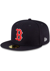 Boston Red Sox New Era QT Pink Undervisor 59FIFTY Fitted Hat - Navy Blue