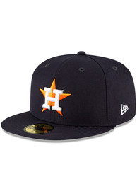Houston Astros New Era QT Pink Undervisor 59FIFTY Fitted Hat - Navy Blue