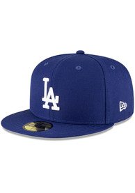Los Angeles Dodgers New Era QT Pink Undervisor 59FIFTY Fitted Hat - Blue