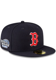 Boston Red Sox New Era QT World Series Side Patch 59FIFTY Fitted Hat - Navy Blue
