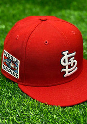 St Louis Cardinals New Era QT World Series Side Patch 59FIFTY Fitted Hat - Red