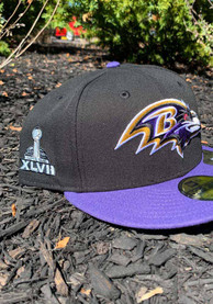 Baltimore Ravens New Era Super Bowl XLVII Side Patch 59FIFTY Fitted Hat - Black