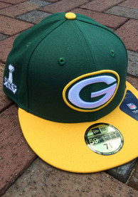 Green Bay Packers New Era Super Bowl XLV Side Patch 59FIFTY Fitted Hat - Green