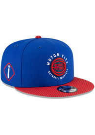 Detroit Pistons New Era 2020 Official City Series 9FIFTY Snapback - Blue